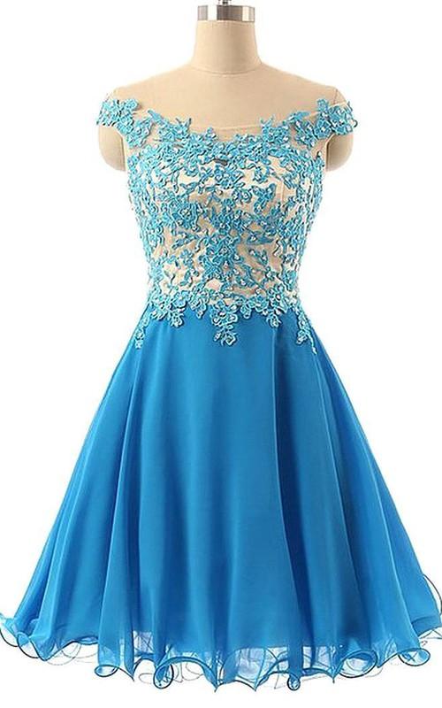 Elegant Lace Appliques Off-the-Shoulder Homecoming Dress Short