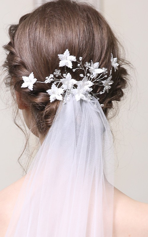 Delicate Handmade Floral Silver Hair Combs