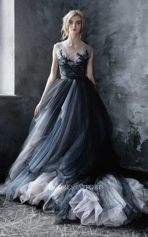 Tulle Lace Embroidered Wedding Dress